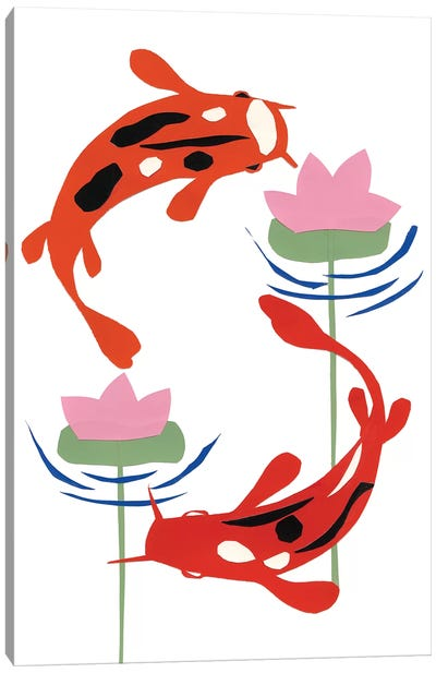 Koi Fantasy II Canvas Art Print
