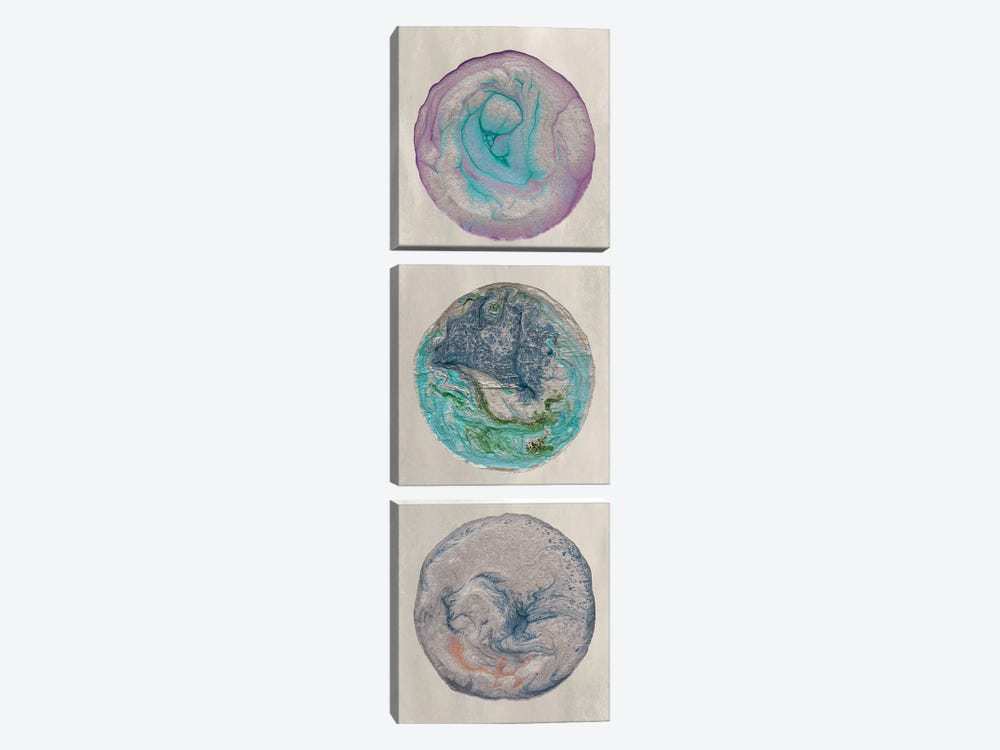 Planet Trio I by Alicia Ludwig 3-piece Canvas Print