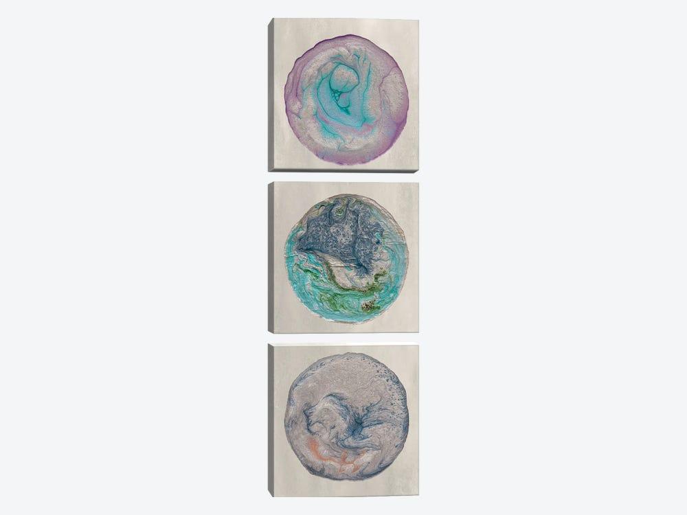 Planet Trio I by Alicia Ludwig 3-piece Canvas Print