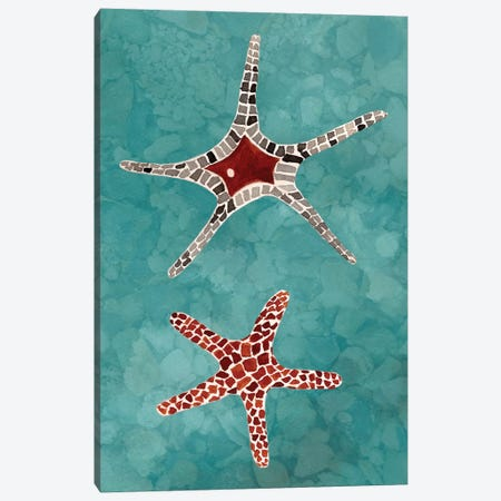 Twin Starfish I Canvas Print #WIG79} by Alicia Ludwig Canvas Print