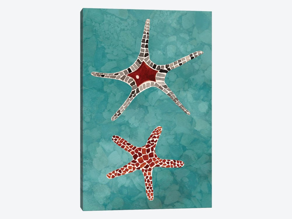 Twin Starfish I by Alicia Ludwig 1-piece Canvas Artwork