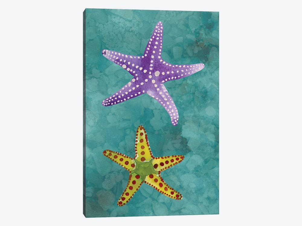 Twin Starfish II by Alicia Ludwig 1-piece Canvas Artwork
