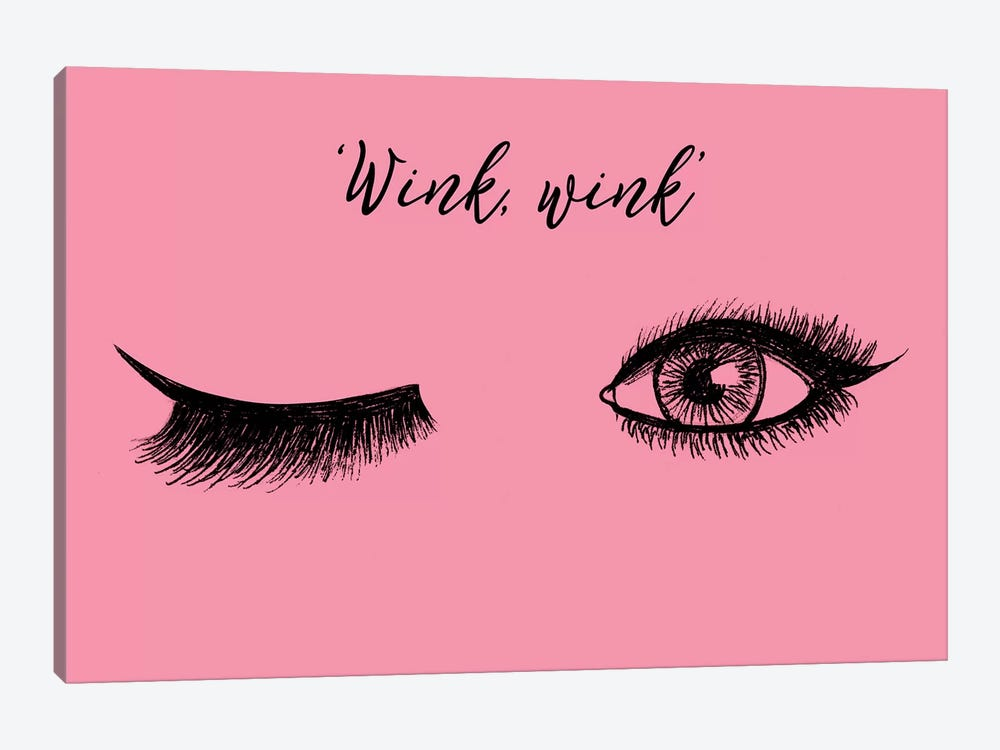 Lash Chat IV by Alicia Ludwig 1-piece Canvas Art Print
