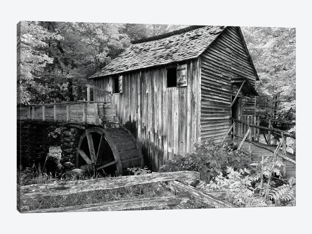 Cable Mill At Cades Cove by Winthrope Hiers 1-piece Canvas Art
