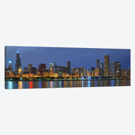 Chicago Skyline Canvas Print #WIN2} by Winthrope Hiers Canvas Artwork