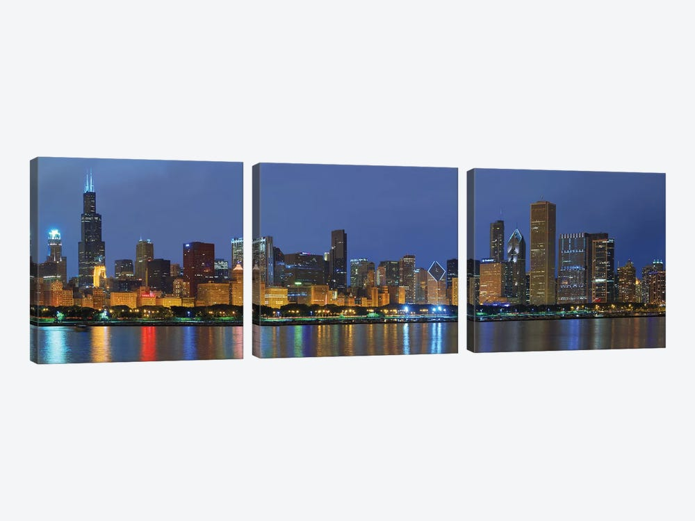 Chicago Skyline by Winthrope Hiers 3-piece Canvas Print