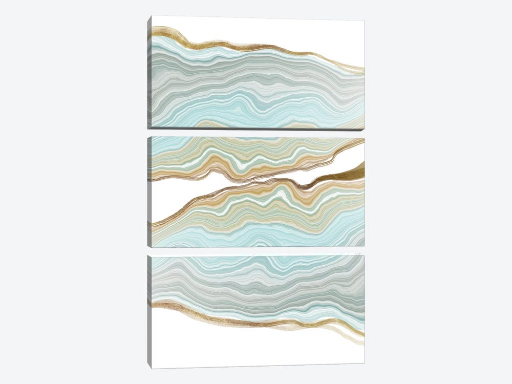 Aqueous Iridescence by 5by5collective 3-piece Canvas Art