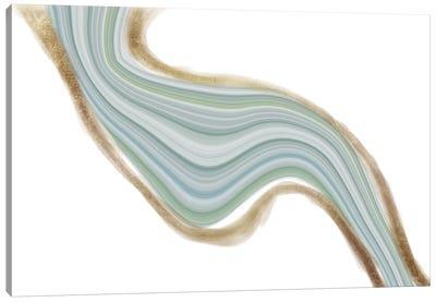 Evolving Cerulean Iridescence Canvas Art Print
