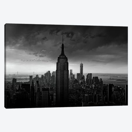 New York Rockefeller View Canvas Print #WIS1} by Wim Schuurmans Canvas Wall Art