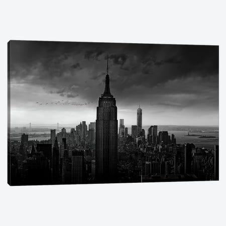 New York Rockefeller View Canvas Print #WIS1} by Wim Schuurmans Canvas Wall Art