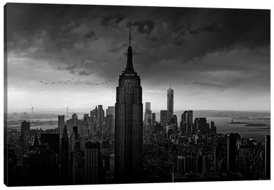 New York Rockefeller View Canvas Art Print