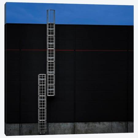 Industrial Red Line Canvas Print #WIS2} by Wim Schuurmans Canvas Artwork