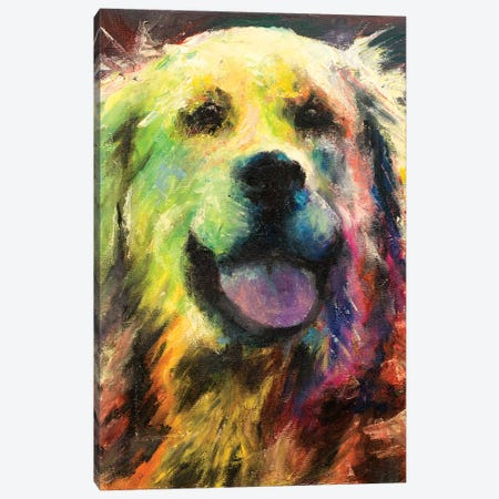 Happy Companion I Canvas Print #WJO3} by Walt Johnson Canvas Wall Art