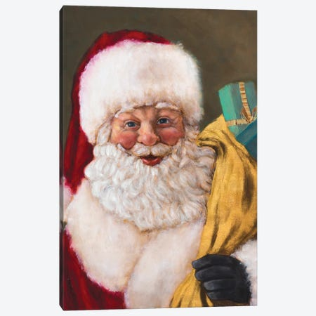 Jolly Saint Nick Canvas Print #WJO5} by Walt Johnson Canvas Print