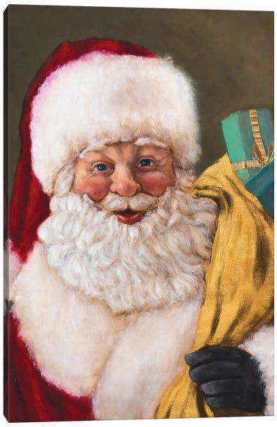 Jolly Saint Nick Canvas Art Print
