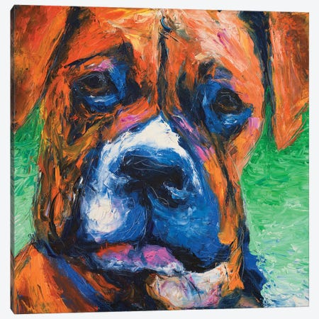 Puppy Dog Eyes II Canvas Print #WJO8} by Walt Johnson Canvas Artwork