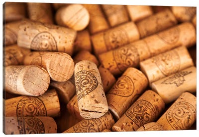 Viu Manent Wine Corks In Zoom Canvas Art Print