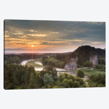 Sunrise In Przełom Białki Canvas Print #WKB101} by Wiktor Baron Canvas Art Print
