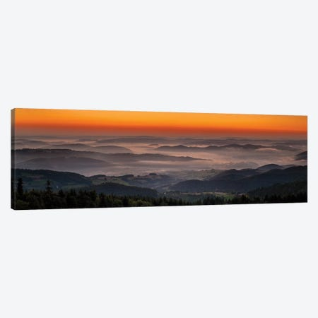 Sunset In Beskid Wyspowy II Canvas Print #WKB104} by Wiktor Baron Canvas Wall Art