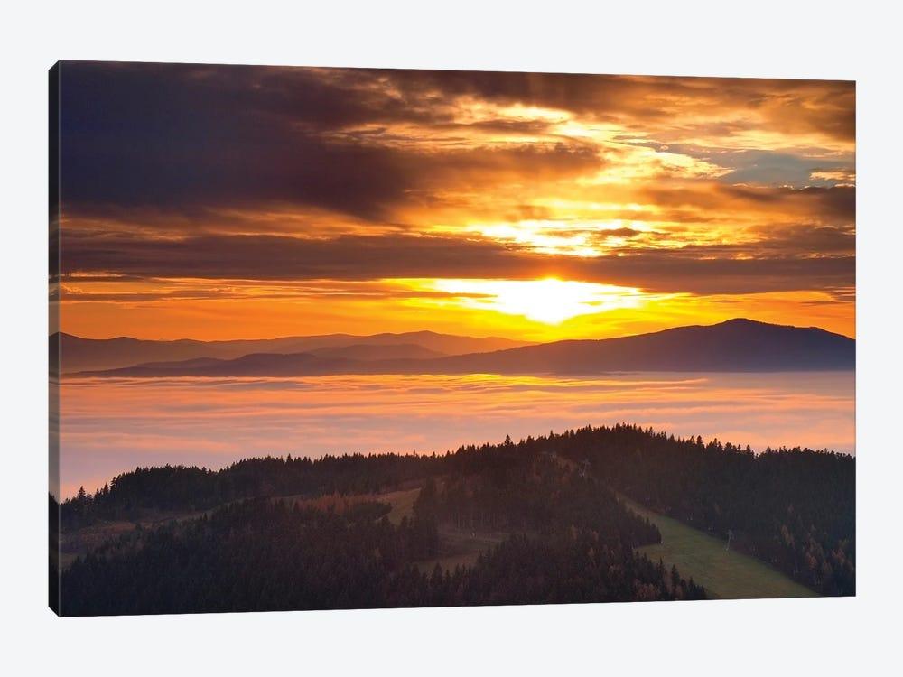 Sunset In Beskid Wyspowy III by Wiktor Baron 1-piece Canvas Wall Art