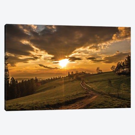 Sunset In Maciejowa Canvas Print #WKB112} by Wiktor Baron Canvas Art