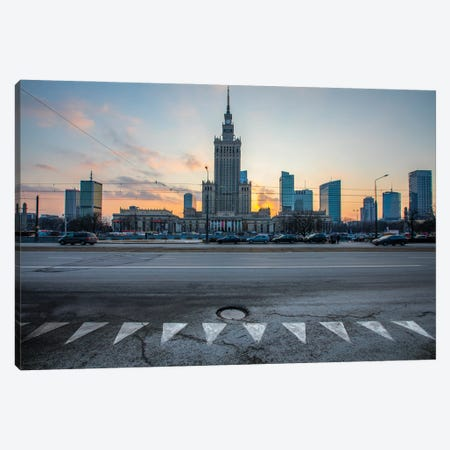 Warszawa Canvas Print #WKB144} by Wiktor Baron Canvas Wall Art