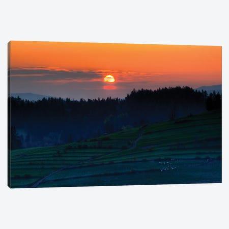 Sunrise In Gorce Canvas Print #WKB97} by Wiktor Baron Canvas Wall Art