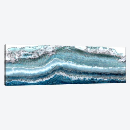 Lace Agate Light Blue I Canvas Print #WKK15} by Wendy Kroeker Canvas Print