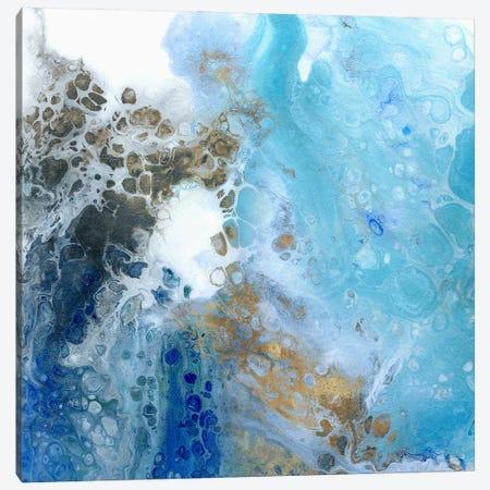 Blue Surf I Canvas Print #WKK2} by Wendy Kroeker Art Print