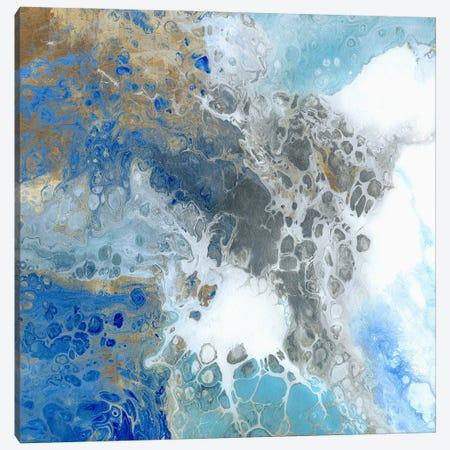 Blue Surf II Canvas Print #WKK3} by Wendy Kroeker Canvas Print