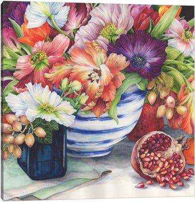Vibrant Bouquet Still Life Canvas Art Print