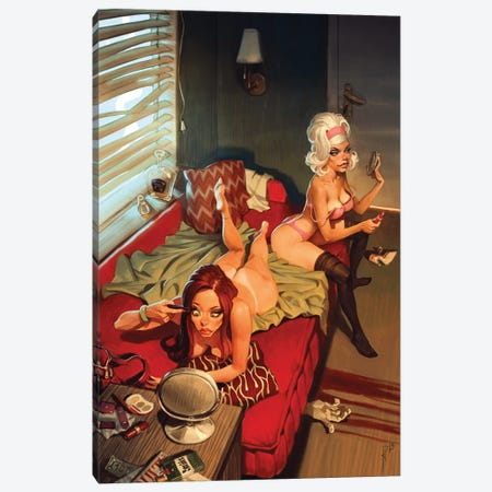 We Have A High Life Together With A Girlfriend Canvas Print #WKZ12} by Waldemar Kazak Canvas Print
