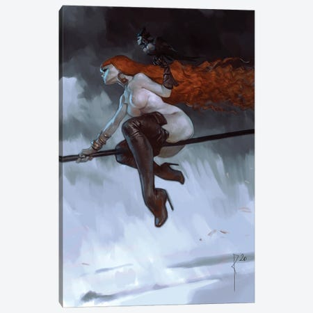 Red Mistress Canvas Print #WKZ17} by Waldemar Kazak Canvas Wall Art