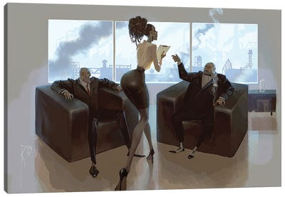 Steel Business And Dirt Canvas Art Print