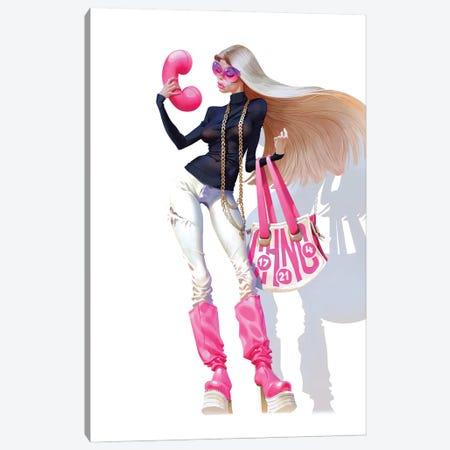 Pink Phone Canvas Print #WKZ23} by Waldemar Kazak Canvas Artwork
