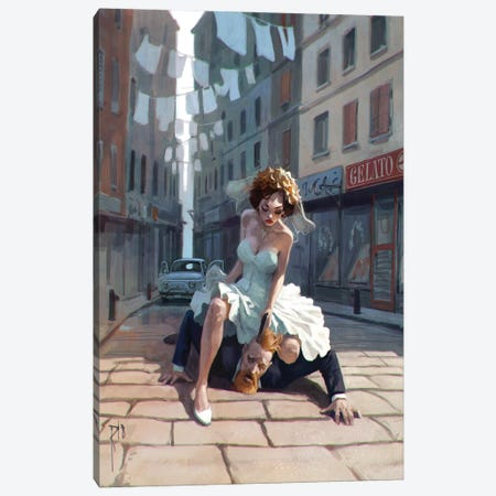 Italian Wedding Canvas Print #WKZ25} by Waldemar Kazak Canvas Print