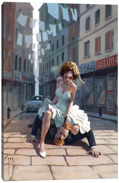 Italian Wedding Canvas Art Print