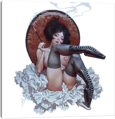 Russian Ballerin On A China Chair Canvas Art Print