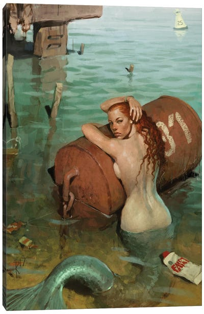 Mermaid2017 Canvas Art Print