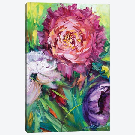Flower XIII Canvas Print #WLA13} by Willson Lau Art Print