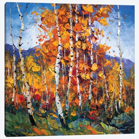 Autumn Birch I Canvas Print #WLA18} by Willson Lau Art Print