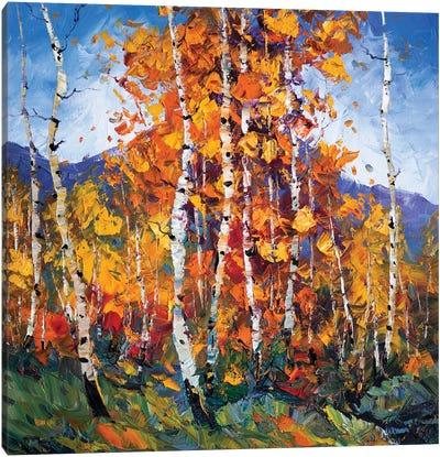 Autumn Birch I Canvas Art Print