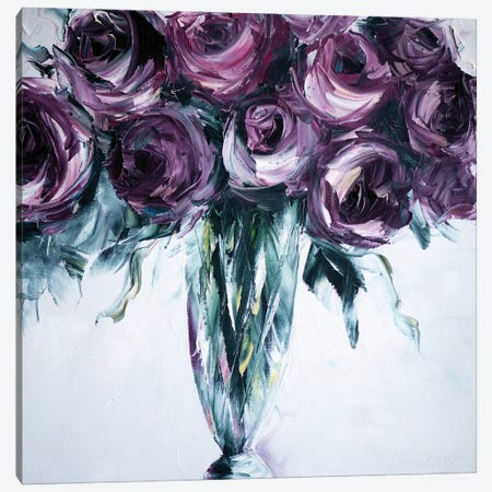 Roses in Vase Canvas Print #WLA1} by Willson Lau Canvas Art