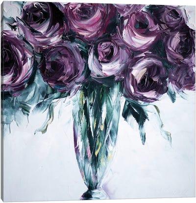 Roses in Vase Canvas Art Print