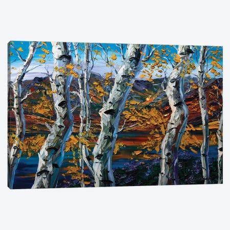 Birch Forest II Canvas Print #WLA26} by Willson Lau Art Print