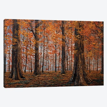 Autumn Forest Canvas Print #WLA27} by Willson Lau Art Print
