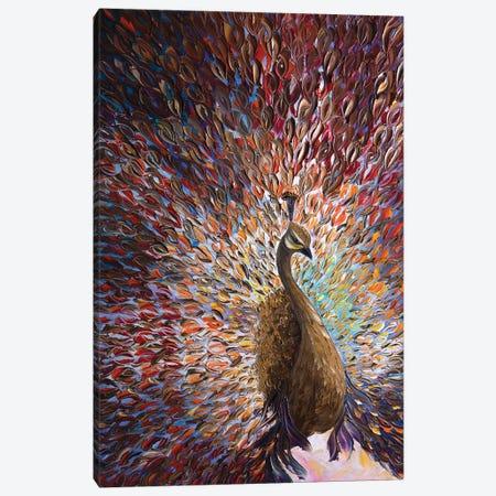 Peacock X Canvas Print #WLA31} by Willson Lau Art Print