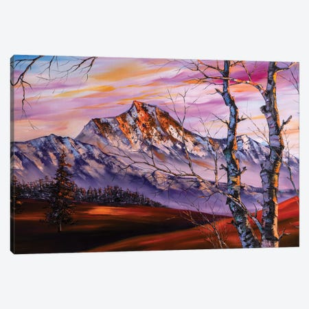 The Snow Mountains Series IV The Heavenly Lights Canvas Print #WLA38} by Willson Lau Canvas Print