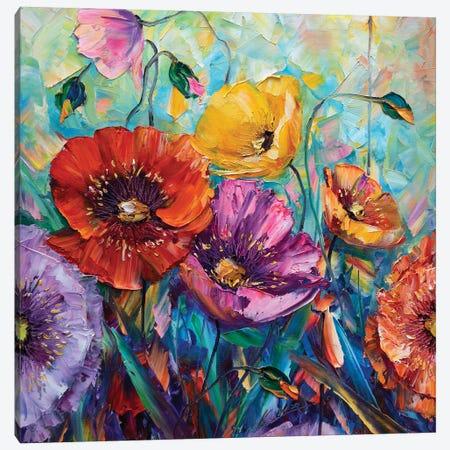 Poppy Field I Canvas Print #WLA3} by Willson Lau Canvas Art