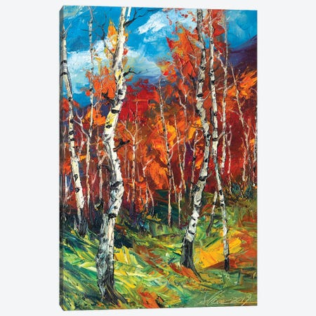 Autumn Birch II Canvas Print #WLA41} by Willson Lau Canvas Artwork